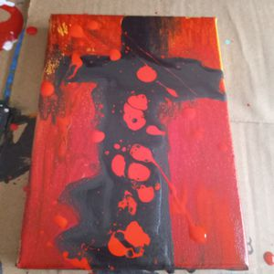 #acrylicpouring #refurbished #bringmeyouroldcanvas for Sale in Fort Pierce, FL