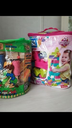 First Preschool Constraction Toy 80 - piece set and Foam Building Blocks.Please check my other offers.Juguetes educativos para niños . for Sale in Kissimmee, FL