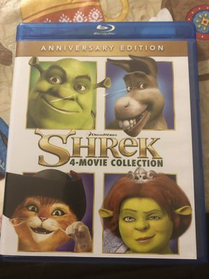 Shrek blu Ray 4 movie complete collection asking 20 firm in north Lakeland for Sale in Lakeland, FL