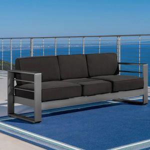 Outdoor Sofa Aluminum Grey for Sale in Concord, CA