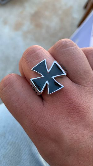 cross ring with black enamel for Sale in Bellflower, CA