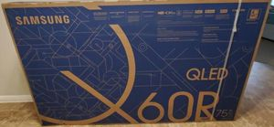 "QN75Q60RAFXZA 75"" Class Samsung qled 240cmr for Sale in Rancho Cucamonga, CA"