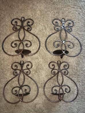 Pre-Owned Metal Wall Sconces -Set of 4 (from Target) for Sale in Orlando, FL