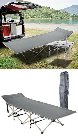 "(NEW) $50 Folding Cot Camping Bed Collapsible w/ Carrying Bag Outdoor 75""x27"" (Max 300lbs) for Sale in South El Monte, CA"