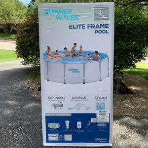 14 ft Summer Waves Elite Frame Pool for Sale in Austin, TX