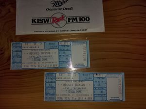 Michael Jackson tickets for cancelled concert 1988 for Sale in Buckley, WA