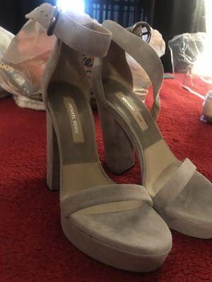 Michael Kors Gray Suede Heels size 7 for Sale in Las Vegas, NV