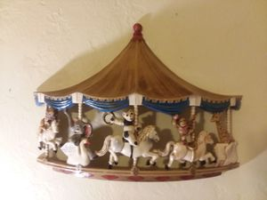 Vintage 1979 Universal Statuary Circus Animal Carousel Wall Decor for Sale in Orlando, FL