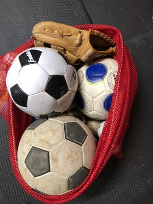 Bag of miscellaneous sports balls for Sale in Bel Air, MD