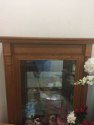 Solid Oak curio cabinet, Hutch, Shelves for Sale in Deer Park, TX