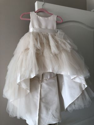 White flower girl dress size 2 for Sale in West Bloomfield Township, MI