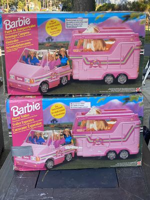 """1995 Barbie Horse Trailers From Europe """"Mint in Box"""" 2 Available !!! for Sale in Woodbury, NJ"""