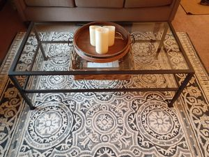 Pottery Barn Tanner Glass Coffee Table Uniontown for Sale in Uniontown, PA
