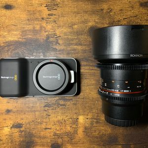Black Magic Pocket Cinema Camera And Rokinon 14mm T3.1 Cine Lens for Sale in Salt Lake City, UT