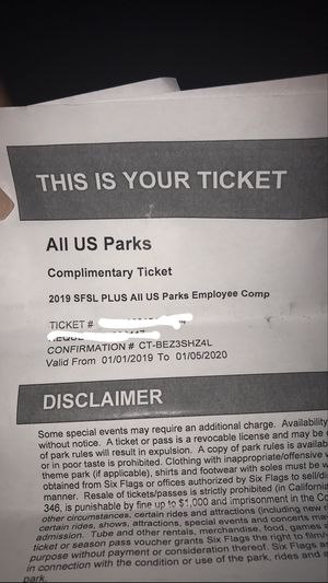 3 Six Flags Tickets !! for Sale in St. Louis, MO