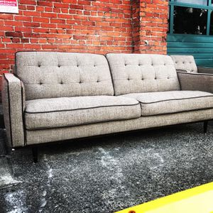 Modern Couch & Chair. Not Perfect, But Nice. In Fremont (Seattle) For Pick Up Or Delivery Small Fee. for Sale in Seattle, WA