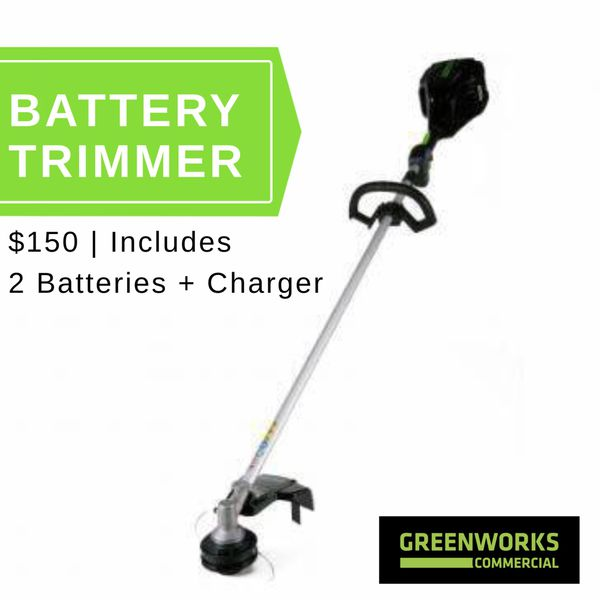 Greenworks Commercial 82V Battery Trimmer for Sale in Chehalis, WA - OfferUp