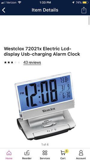 USB charging alarm clock for Sale in Fountain Inn, SC