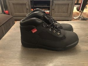 7y youth Black Timberland field boots (women's 9) for Sale in Washington, DC