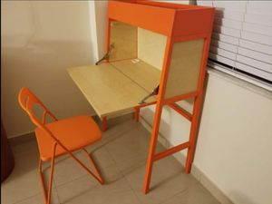 IKEA MATCHING SECRETARY DESK AND CHAIR SET for Sale in North Miami, FL