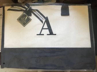 """Large monogrammed tote bag """"A"""" for Sale in Milton,  FL"""