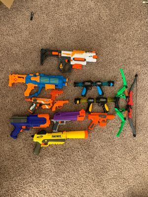 NERF GUN LOT & BOWS for Sale in Dallas, GA