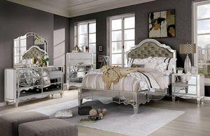 Eliora 4pc Queen Bedroom Set Mirror accents for Sale in Riverside, CA
