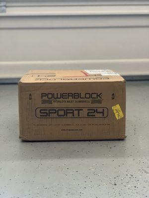 POWERBLOCK Sport 24 Adjustable Dumbbells, Grey, 24 lbs per Hand for Sale in Hayward, CA
