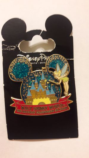 Walt Disney World The Happiest Day on Earth TINKERBELL Castle pin with movement 2005 for Sale in Sunrise, FL