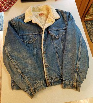 Vintage 1960's LEVIS denim jacket sherpa lined for Sale in Evesham Township, NJ