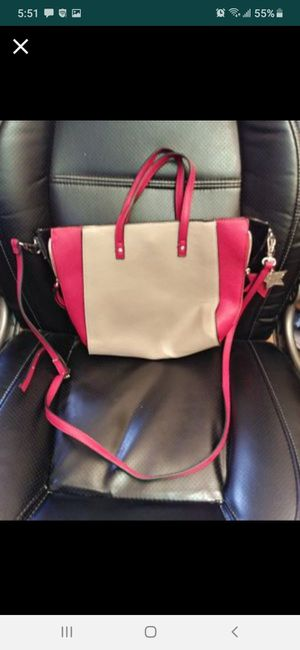 Candies leather purse with handles and long shoulder strap adjustable for Sale in Southbridge, MA