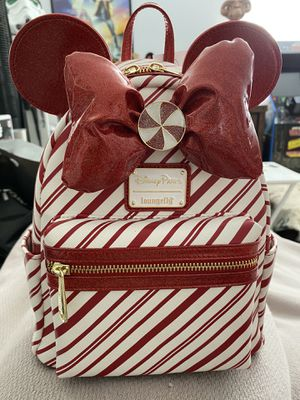 Loungefly Disney Candy Cane Backpack Park Exclusive for Sale in Rancho Cucamonga, CA