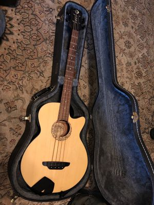 Luna acoustic electric bass guitar. Case and amp included for Sale in Fairfax, VA