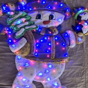 Frosty the Snowman wall display With LED Lights for Sale in Fontana, CA