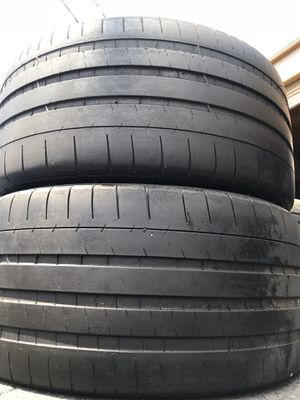 (2) Michelin 265/35R19 Pilot Super Sport 265/35/19 Used Tires 265 35 19 for Sale in Santa Ana, CA