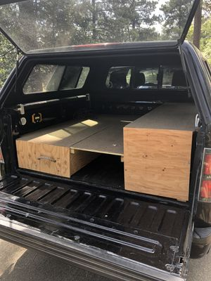 Truck camper, wooden bed for Sale in San Diego, CA