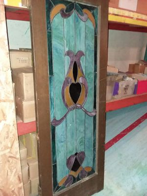 Door with Stained glass decorated panel for Sale in Tacoma, WA