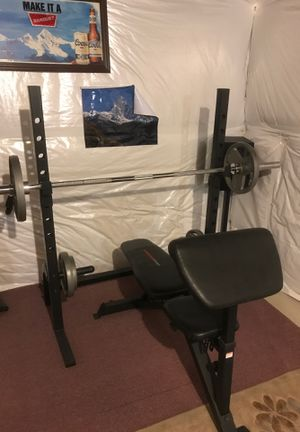 Workout bench rack for Sale in Erie, CO