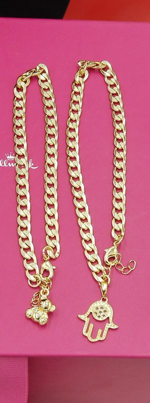 ❤🌷❤Diamond Cut Charm Anklets 18k Gold Filled🚛🚛🚛$5 Shipping🚘🚘🚘We Deliver👑👑👑Won't Change Color for Sale in Miami, FL