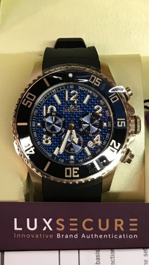 Invicta Pro Diver Rose Gold Chronograph Bluel Dial Batman Bezel Men's Watch for Sale in Anaheim, CA