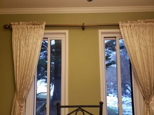 Beautiful white curtains - 12 Panels! for Sale in Gaithersburg, MD