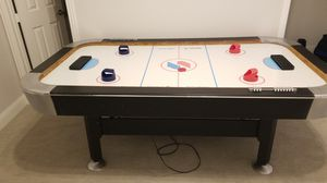 Free 7 ' Air hockey tables with pucks for Sale in Prosper, TX