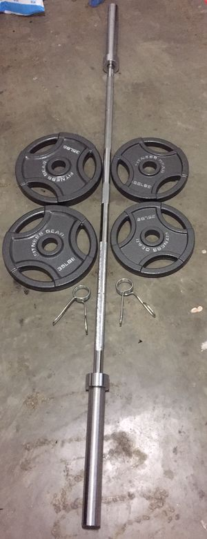 Olympics barbells 120lbs Olympic weight lot for Sale in Tualatin, OR