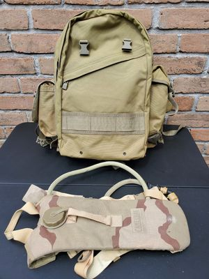 Military Backpack & water pouch for Sale in Houston, TX