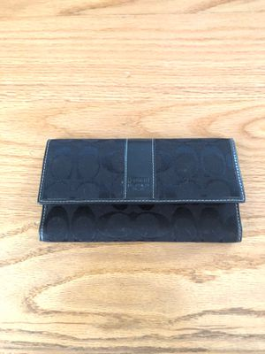 Coach wallet... black... used few times $25 for Sale in Tyngsborough, MA