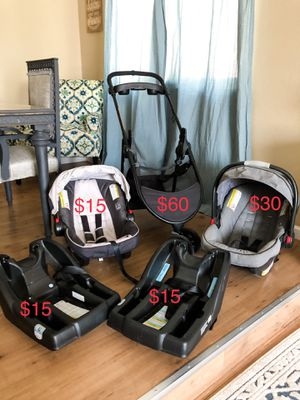 Graco car seats, bases, and stroller bundle for Sale in Fresno, CA