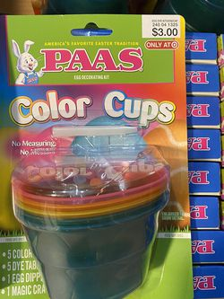 PAAS Egg Decorating Kit-Color Cups for Sale in DeSoto,  TX