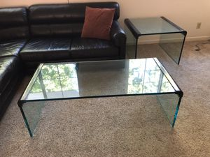 Two heavy glass coffee tables for Sale in Costa Mesa, CA