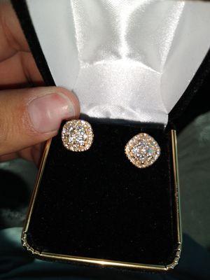 Yellow gold diamond earrings for Sale in Scottsdale, AZ