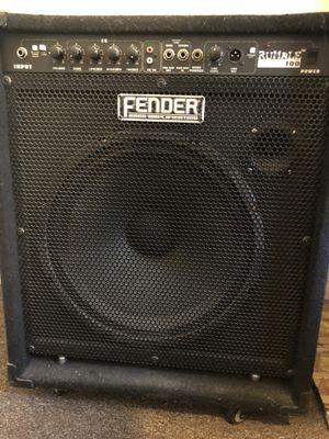 Bass guitar amplifier, Fender rumble 100 for Sale in Erie, MI